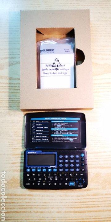 Antigüedades: Agenda electrònica Rolodex electrònics a estrenar con caja original - Foto 4 - 184362430