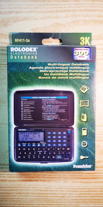 AGENDA ELECTRÒNICA ROLODEX ELECTRÒNICS A ESTRENAR CON CAJA ORIGINAL (Antigüedades - Técnicas - Aparatos de Cálculo - Calculadoras Antiguas)