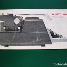 Antigüedades: OLIVETTI LINEA 98, MANUAL DE INSTRUCCIONES. Lote 184406723