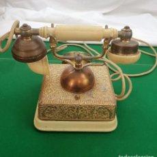 Teléfonos: TELEFONO ANTIGUO BRONCE. Lote 184506435