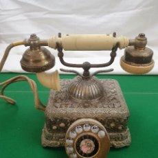 Teléfonos: ANTIGUO TELEFONO DE BRONCE. Lote 184506470