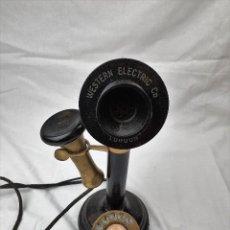 Teléfonos: ANTIGUO TELEFONO DE CANDELABRO. WESTERN ELECTRIC LONDON. Lote 184506647