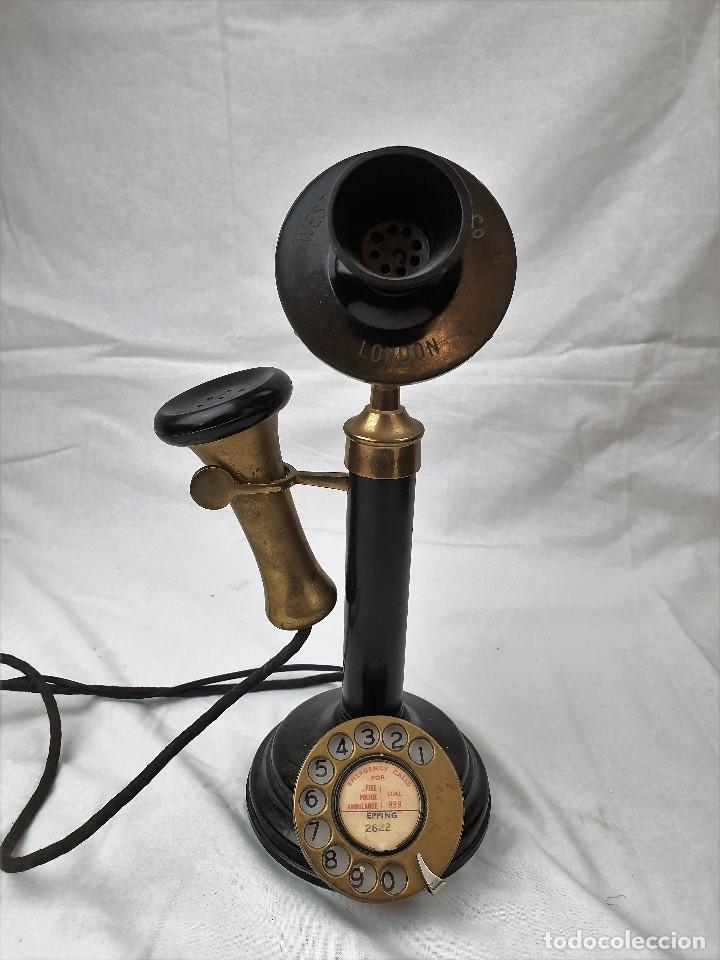 Teléfonos: Antiguo telefono de candelabro. Western Electric London - Foto 2 - 184506647