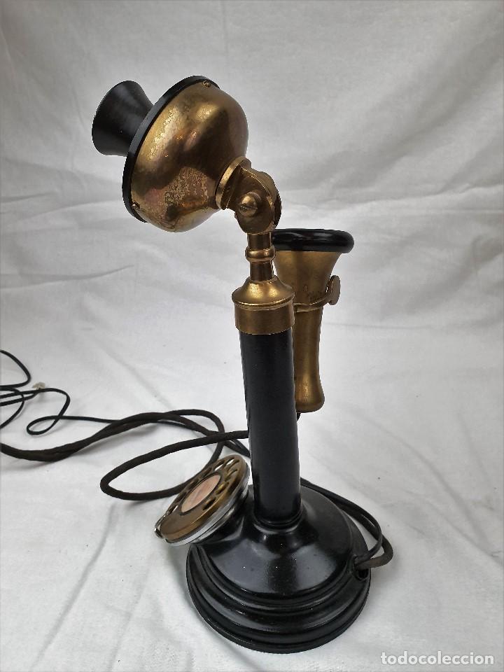 Teléfonos: Antiguo telefono de candelabro. Western Electric London - Foto 3 - 184506647