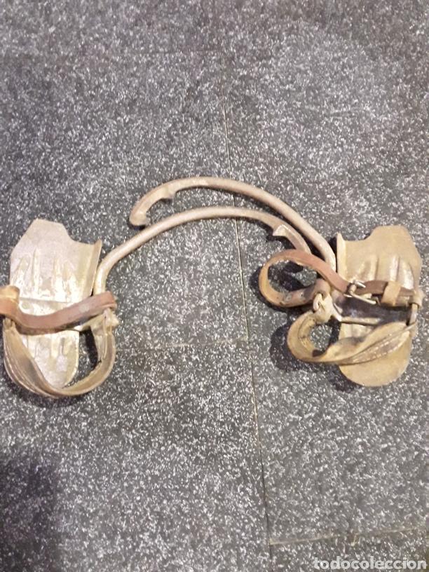 TREPADORES O GRAMPONES ZAPATO CON PINCHOS PARA SUBIR POSTES (Antigüedades - Técnicas - Herramientas Profesionales - Electricidad)