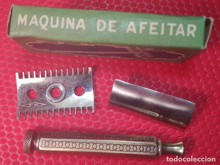 Antigüedades: F H. Buen estado y Completa, Española, maquinilla de afeitar, cuchilla, safety razor - Foto 3 - 184664908