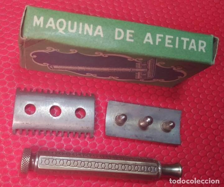 Antigüedades: F H. Buen estado y Completa, Española, maquinilla de afeitar, cuchilla, safety razor - Foto 4 - 184664908