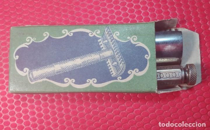 Antigüedades: F H. Buen estado y Completa, Española, maquinilla de afeitar, cuchilla, safety razor - Foto 6 - 184664908