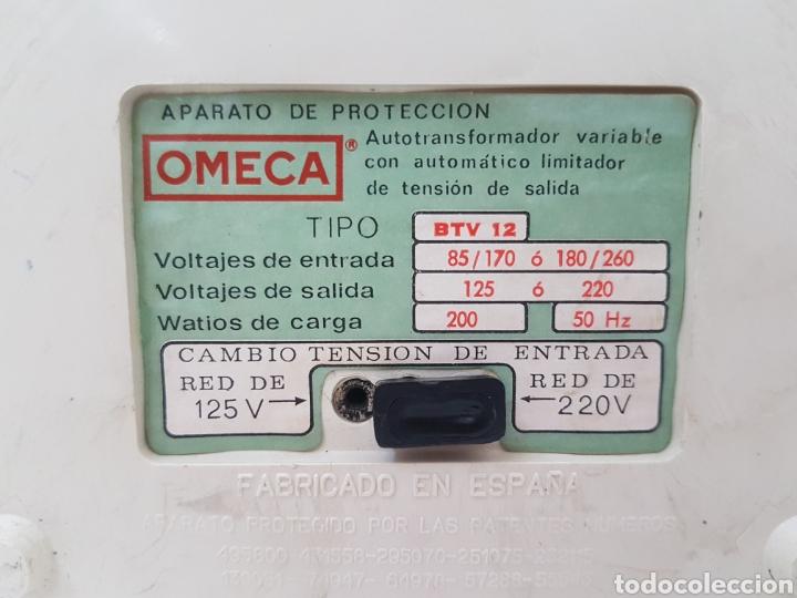 Antigüedades: Autotransformador variable 125/220 v . OMECA - Foto 6 - 184688356