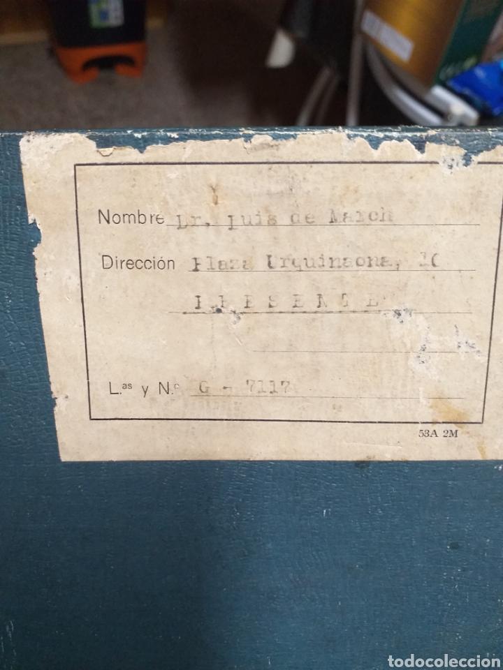 Antigüedades: ANTIGUA CAJA DOCTOR LUIS DE MARCH,EX ALUMNO Y AYUDANTE DEL DR MOURE - Foto 6 - 184719763