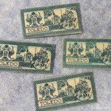 Antigüedades: 4 HOJAS DE AFEITAR. CUCHILLAS. TOLEDO Nº 2. Lote 184731310