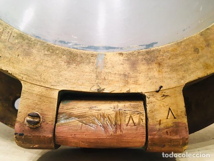 Antigüedades: ANTIGUO OJO DE BUEY DE BRONCE DE BARCO VENTANA EMBARCACIÓN NAVAL CAMAROTE NÁUTICO - Foto 4 - 184806960