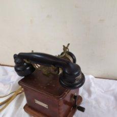 Teléfonos: ESPECTACULAR TELÉFONO DE MANIVELA SIGLO XIX. Lote 184813012