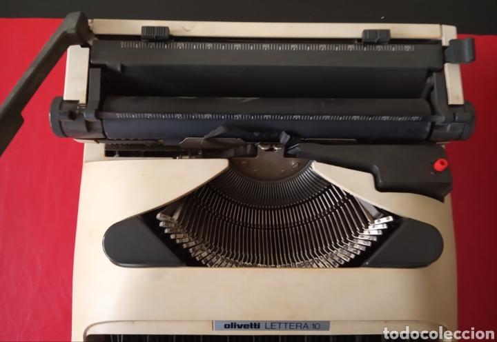 Antigüedades: Maquina de escribir Olivetti lettera 10 con funda - Foto 2 - 184847381