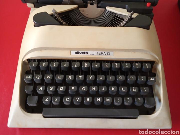 Antigüedades: Maquina de escribir Olivetti lettera 10 con funda - Foto 3 - 184847381