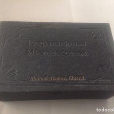 Antigüedades: PREPARACIONES MICROSCÓPICAS MANUEL ÁLVAREZ.NTOMOLOGIA 38 MUESTRAS PARA MICROSCOPIO (MUSEO). Lote 136921850