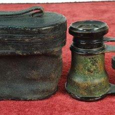 Antigüedades: BINOCULARES DE ÓPERA. LAPERIEUX. METAL Y CUERO. LENTES EN MAL ESTADO. SIGLO XX. . Lote 184921585