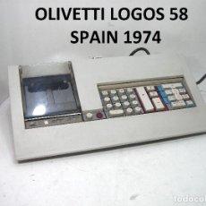 Antigüedades: IMPRESIONANTE- HISPANO OLIVETTI LOGOS 58- SPAIN 1974-CALCULADORA IMPRESORA OLIVETI -7.5 KGS. Lote 185295211