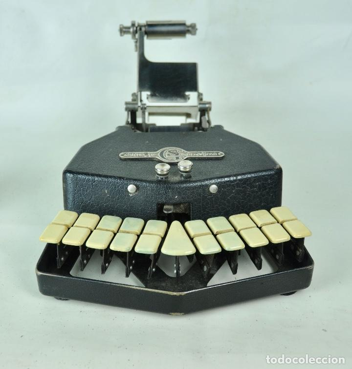 MÁQUINA TAQUIGRAFÍA STENOTYPE GRANDJEAN AÑO 49 (Antigüedades - Técnicas - Máquinas de Escribir Antiguas - Otras)