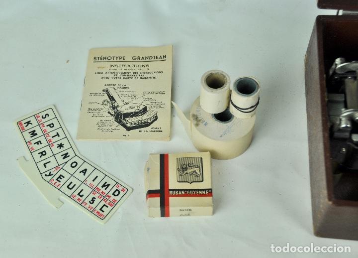 Antigüedades: Máquina taquigrafía Stenotype Grandjean año 49 - Foto 8 - 185709793