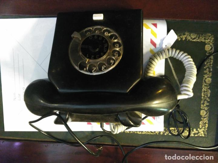 Teléfonos: ANTIGUO TELÉFONO ART DECO FABRICADO EN ALEMANIA TODO ORIGINAL RARO FUNCIONANDO - Foto 2 - 185755680