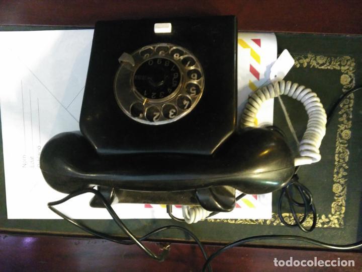 Teléfonos: ANTIGUO TELÉFONO ART DECO FABRICADO EN ALEMANIA TODO ORIGINAL RARO FUNCIONANDO - Foto 4 - 185755680