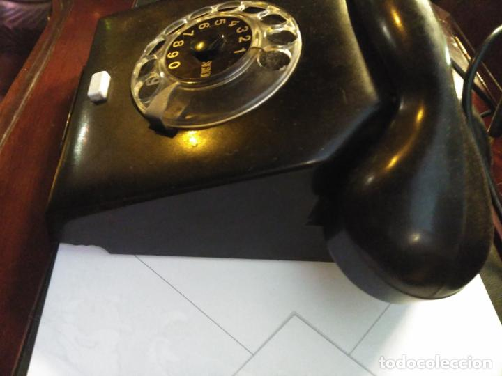 ANTIGUO TELÉFONO ART DECO FABRICADO EN ALEMANIA TODO ORIGINAL RARO FUNCIONANDO (Antigüedades - Técnicas - Teléfonos Antiguos)