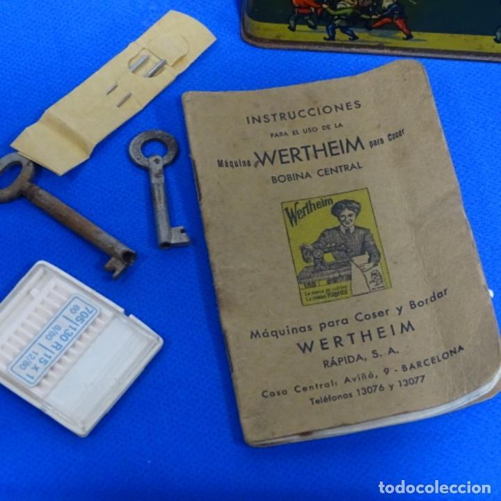 Antigüedades: Caja metálica,accesorios y libro de instrucciones werthein. - Foto 2 - 185755873
