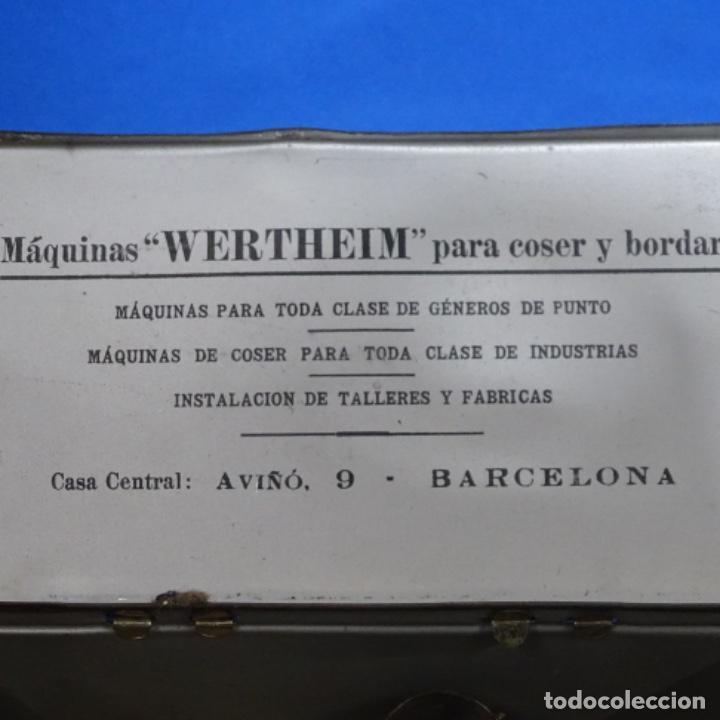 Antigüedades: Caja metálica,accesorios y libro de instrucciones werthein. - Foto 4 - 185755873