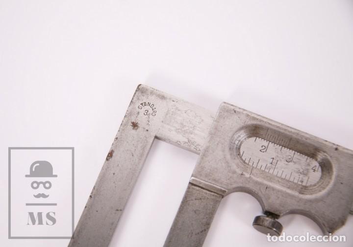Antigüedades: Antiguo Calibre / Pie de Rey Siglo XIX - Personalizado J. Anguera - Standard 3 -Medidas 10 x 28,5 cm - Foto 3 - 185889456