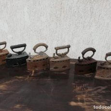 Antigüedades: PLANCHAS CARBÓN AÑO 1900 6 DISPONIBLES. Lote 186022145