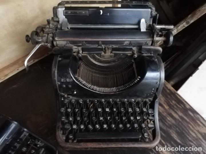 MÁQUINA DE ESCRIBIR OLIMPIA RUSA TECLADO CIRÍLICO (Antigüedades - Técnicas - Máquinas de Escribir Antiguas - Olympia)