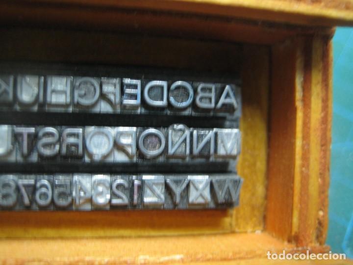 Antigüedades: IMPRENTA - LETRAS DE PLOMO - MINI CAJA 10 A - ABECEDARIO Y NUMEROS - Foto 6 - 186082536