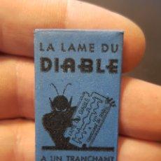 Antigüedades: CUCHILLA HOJA DE AFEITAR LA LAME DU DIABLE. Lote 186082998