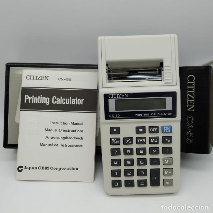 Antigüedades: Calculadora CITIZEN CX-55 con impresora de mano - NUEVA A ESTRENAR - Foto 2 - 186090958