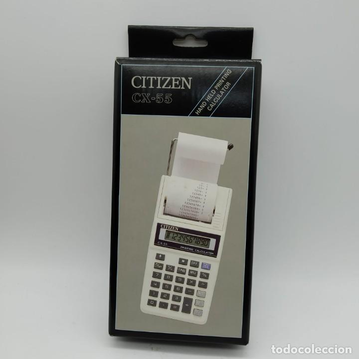Antigüedades: Calculadora CITIZEN CX-55 con impresora de mano - NUEVA A ESTRENAR - Foto 6 - 186090958
