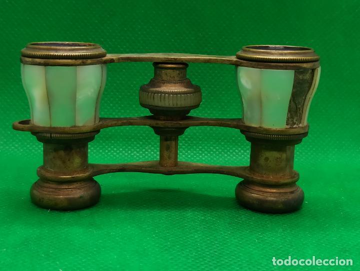 Antigüedades: BINOCULARES DE OPERA O TEATRO DE NACAR Y BRONCE - Foto 3 - 186126748