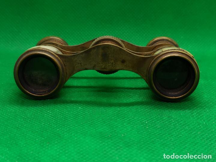 Antigüedades: BINOCULARES DE OPERA O TEATRO DE NACAR Y BRONCE - Foto 4 - 186126748