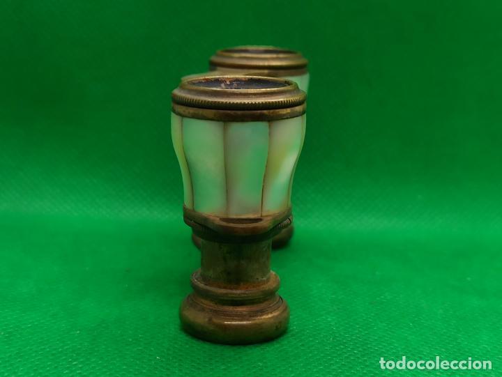 Antigüedades: BINOCULARES DE OPERA O TEATRO DE NACAR Y BRONCE - Foto 5 - 186126748