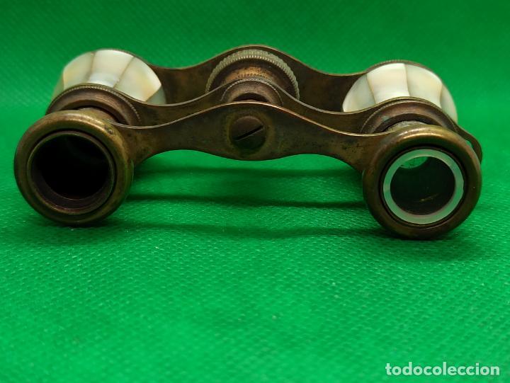 Antigüedades: BINOCULARES DE OPERA O TEATRO DE NACAR Y BRONCE - Foto 6 - 186126748