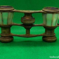 Antigüedades: BINOCULARES DE OPERA O TEATRO DE NACAR Y BRONCE. Lote 186126748