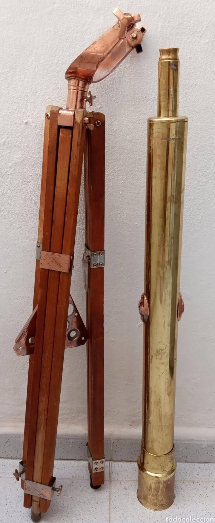 BONITA REPRODUCCIÓN DEL TELESCOPIO CATALEJO BUSHNELL HARBORMASTER EN LATÓN.VER FOTOS Y DESCRIPCIÓN. (Antigüedades - Técnicas - Instrumentos Ópticos - Catalejos Antiguos)