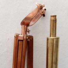 Antigüedades: BONITA REPRODUCCIÓN DEL TELESCOPIO CATALEJO BUSHNELL HARBORMASTER EN LATÓN.VER FOTOS Y DESCRIPCIÓN.. Lote 186127671