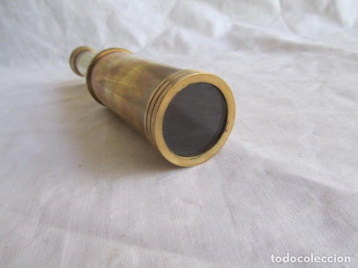 Antigüedades: Pequeño catalejo de bronce - Foto 7 - 202106447