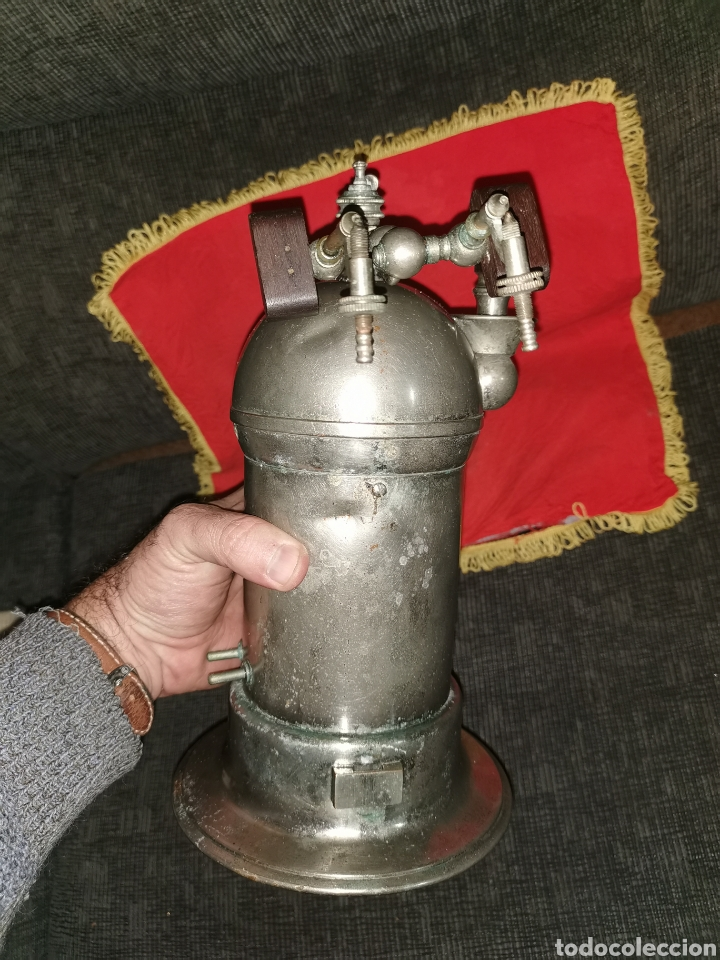 Antigüedades: Spray de vapor carbónico tipo Lister, principios del siglo XX - Foto 7 - 186259186