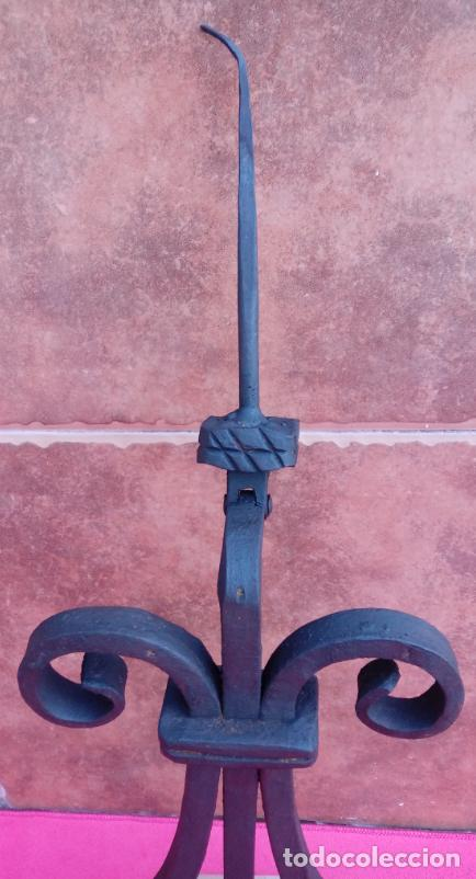 Antigüedades: ALDABA DE FORJA S. XVIII. GRAN TAMAÑO.- 31 CMS LONGUITUD. PROCEDE DE CASA SOLARIEGA DE CÓRDOBA. - Foto 3 - 186263210