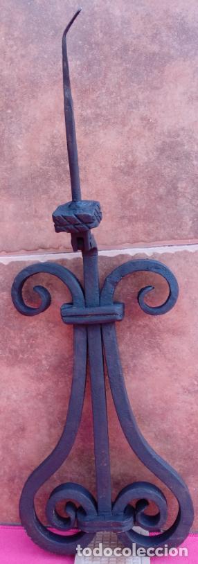 Antigüedades: ALDABA DE FORJA S. XVIII. GRAN TAMAÑO.- 31 CMS LONGUITUD. PROCEDE DE CASA SOLARIEGA DE CÓRDOBA. - Foto 7 - 186263210