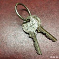 Antigüedades: UNION CERRAJERA DE MONDRAGON, LLAVES.. Lote 186272762