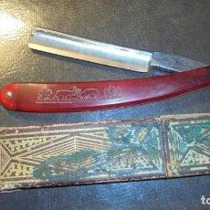 Antigüedades: ANTIGUA NAVAJA. FILARMONICA DOBLE TEMPLE 14 JOSE MONTSERRAT POU CON SU CAJA . Lote 186334332