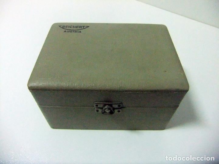 Antigüedades: ACCESORIO MICROSCOPIO REICHERT AUSTRIA Nº 57 180 CON CAJA - ÓPTICA LENTE LENTES ÓPTICO BOX BOXED - Foto 11 - 186338361
